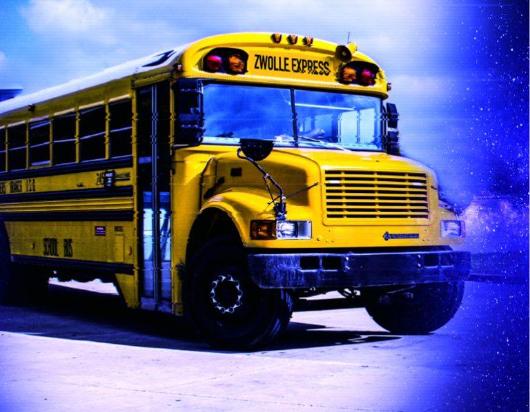 IJsbeelden Festival Amerikaanse School Bus
